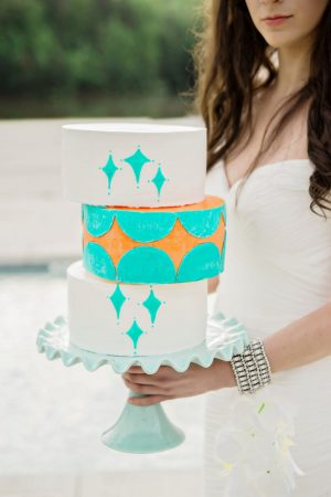 Modern wedding cake - Andie Freeman Photography