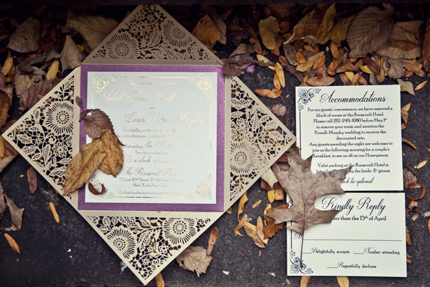 Beautiful wedding invitation - Claudia McDade Photography