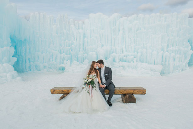 Dreamy Ice Castle Wedding Inspiration - Andrea Simmons Photography LLC