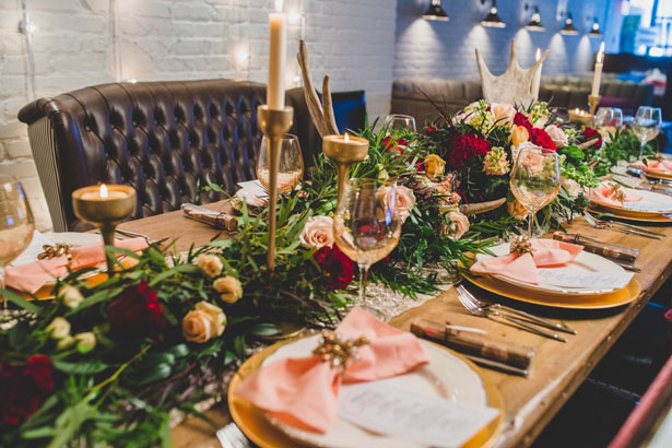 Beautiful wedding tablescape - Edward Lai Photography