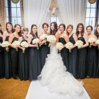 Black bridesmaid dresses - Clane Gessel Photography