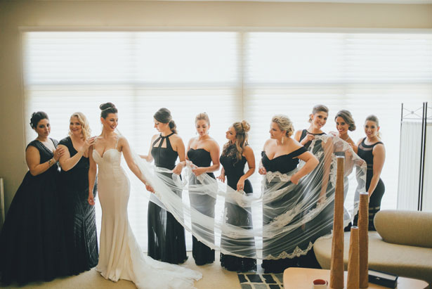 Black bridesmaid dresses - OLLI STUDIO
