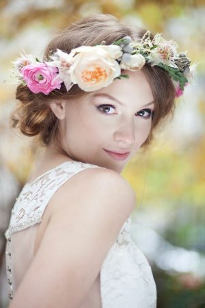 Bridal Floral Crown - Claudia McDade Photography