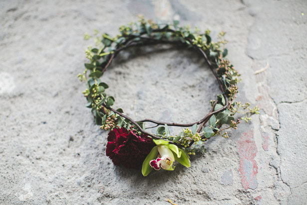 Bridal floral crown - Alicia Lucia Photography