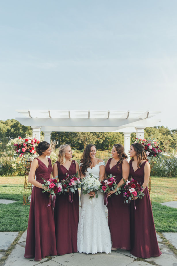 Burgundy Bridesmaid Dresses - OLLI STUDIO