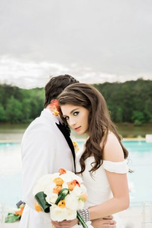 Modern Luxury Poolside Wedding with Tropical Flair - Andie Freeman Photography