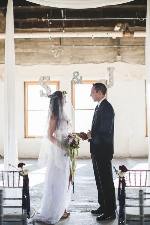 Bride and groom ceremony picture - Alicia Lucia Photography