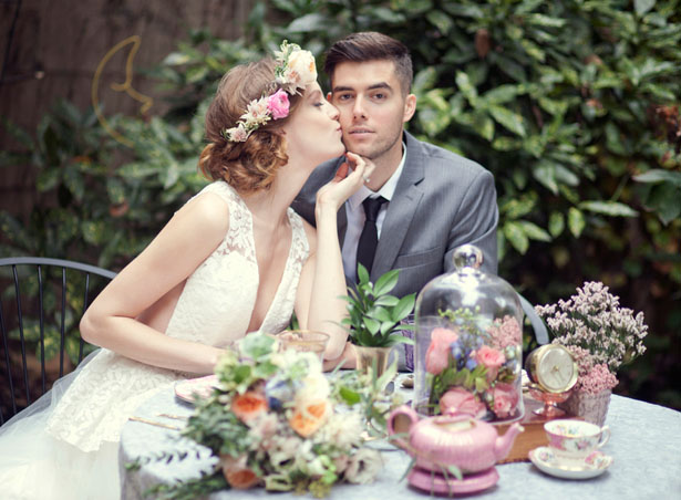 Bride and groom groom cute photo ideas - Claudia McDade Photography