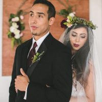 Bride and groom picture idea - Alicia Lucia Photography