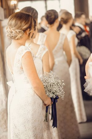 White bridesmaid dresses - Melissa Avey Photography