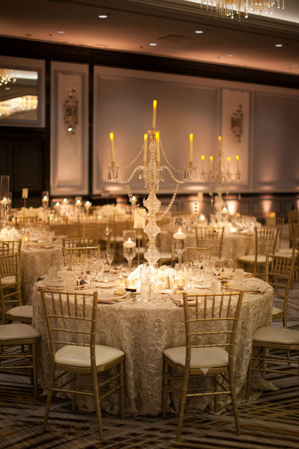 Candelabra wedding centerpiece - Clane Gessel Photography