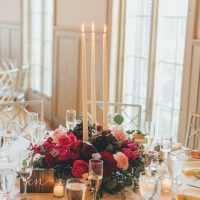 Candle wedding table centerpiece - OLLI STUDIO
