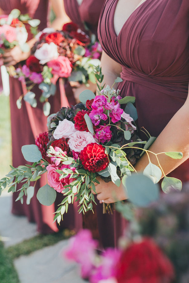 Colorful bridesmaid bouquets - OLLI STUDIO