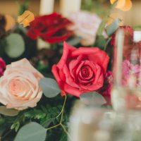 Colorful wedding centerpieces - OLLI STUDIO