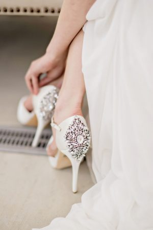 Elegant wedding shoes - Andie Freeman Photography