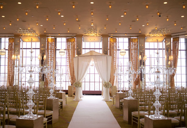 Elegant wedding ceremony decor - Clane Gessel Photography