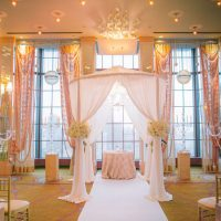 Elegant wedding chuppah - Clane Gessel Photography