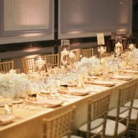 Elegant wedding table-scape - Clane Gessel Photography
