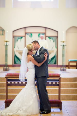 First wedding kiss - Three16 Photography