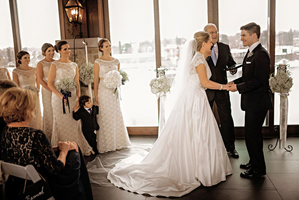 Indoor Wedding Ceremony - Melissa Avey Photography