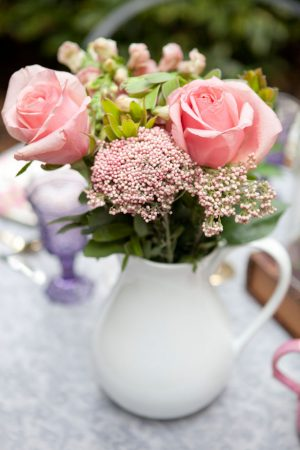 Floral wedding arrangement - Claudia McDade Photography