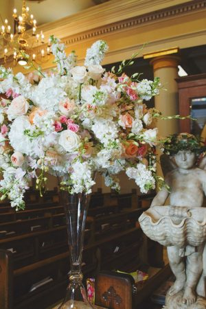 Floral wedding ceremony decor - Mark Eric Weddings