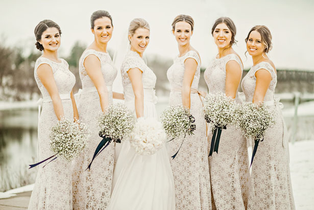 All-white bridesmaid dresses - Melissa Avey Photography