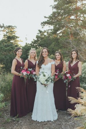 Burgundy Long Bridesmaid Dresses - OLLI STUDIO