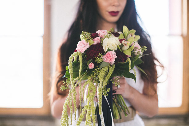 Marsala wedding bouquet - Alicia Lucia Photography