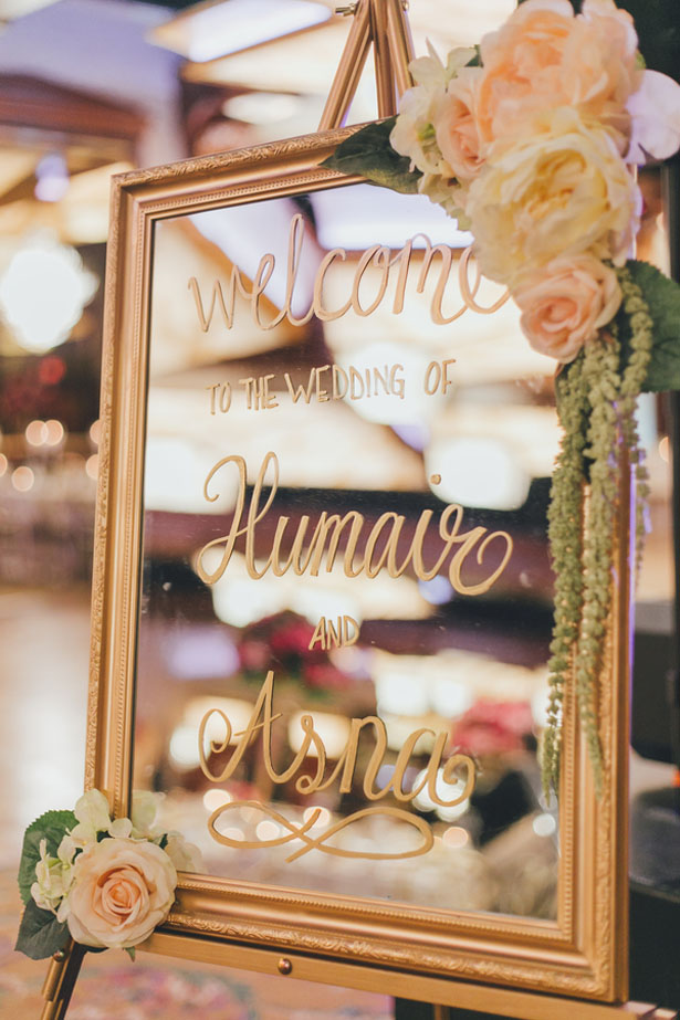 Mirror wedding sign - OLLI STUDIO