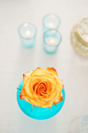 Orange wedding flower - Andie Freeman Photography