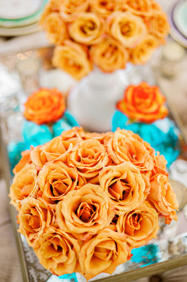 Orange wedding roses - Andie Freeman Photography