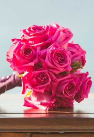 Pink Roses Wedding Bouquet - Manuela Stefan Photography