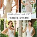 Wedding Dresses with Plunging Necklines by Mon Cheri Bridals