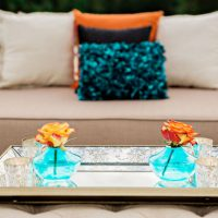 Aqua and Orange Wedding Ideas - Andie Freeman Photography