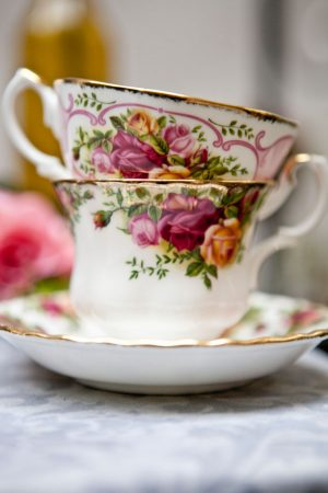Pretty wedding tea cups - Claudia McDade Photography