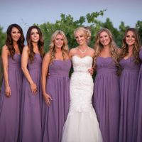 Purpled bridesmaid dresses - Three16 Photography