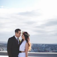 Romantic bride and groom photo - Alicia Lucia Photography