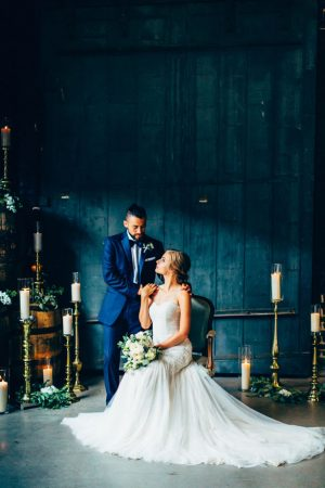 Romantic bride and groom photo - Derek Halkett Photography