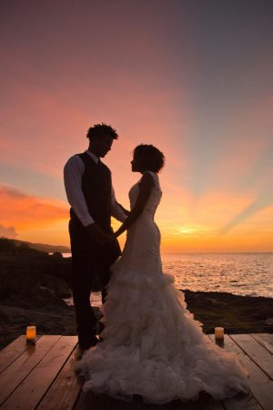 Sunset wedding picture - Manuela Stefan Photography