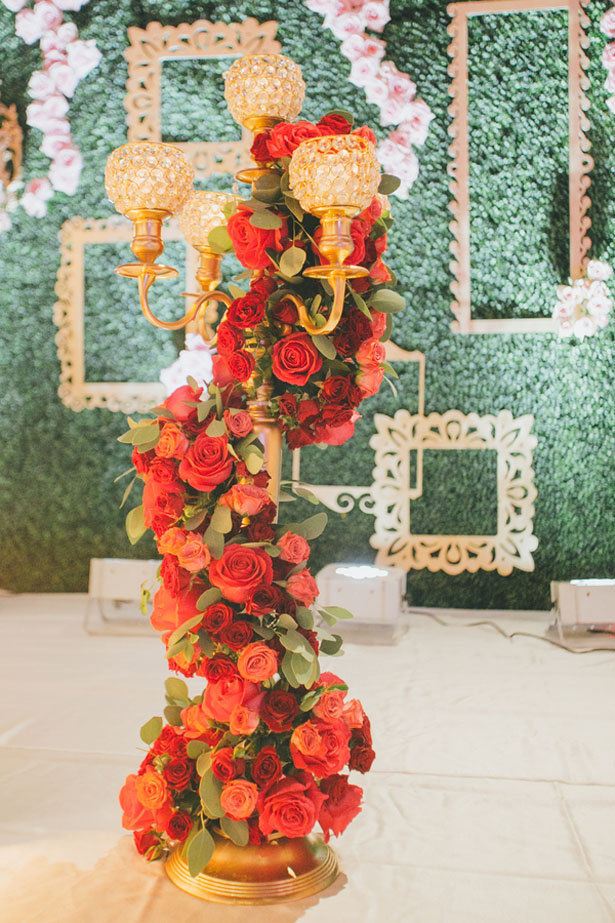Tall floral wedding arrangement - OLLI STUDIO
