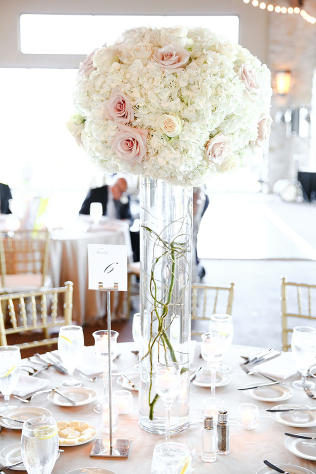 Tall wedding centerpiece - HydeParkPhoto