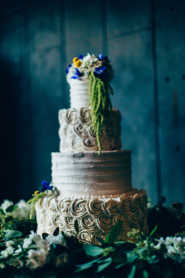 White wedding cake - Derek Halkett Photography
