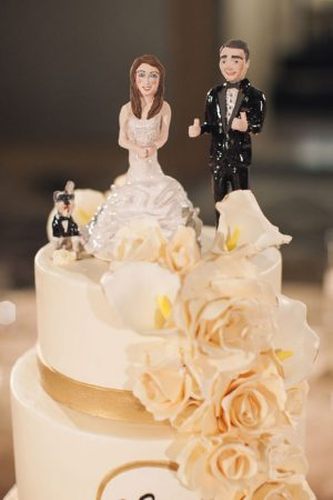 Wedding cake figures - Clane Gessel Photography