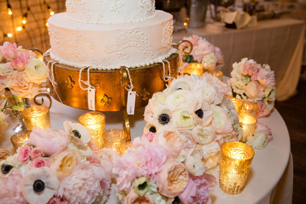 Wedding cake table decor - Mark Eric Weddings