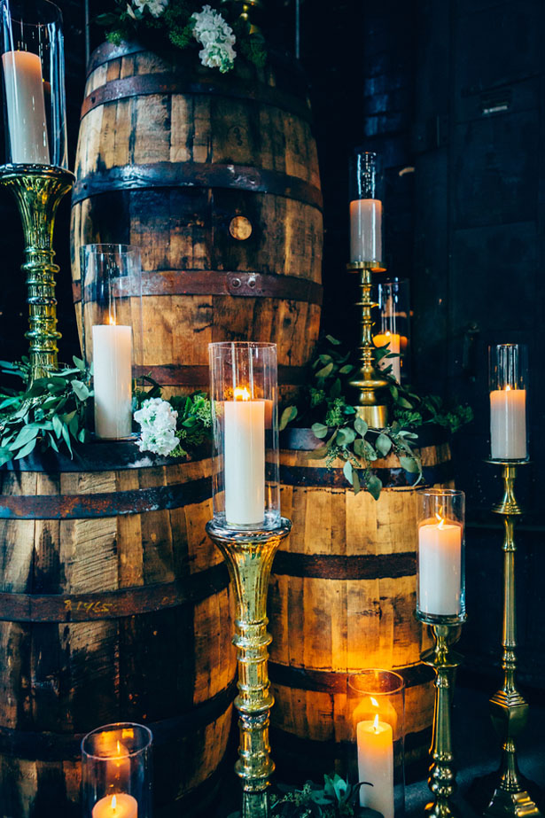 Wine Barrel Wedding Decoration - Derek Halkett Photography