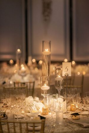 Candlelight wedding Centerpiece - Clane Gessel Photography