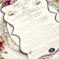 Wedding menu - Claudia McDade Photography