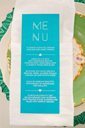 Wedding menu - Andie Freeman Photography