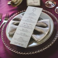 Wedding menu - Alicia Lucia Photography